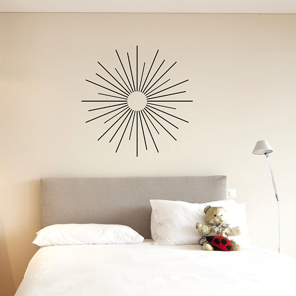 starburst wall art decal decoist. Black Bedroom Furniture Sets. Home Design Ideas