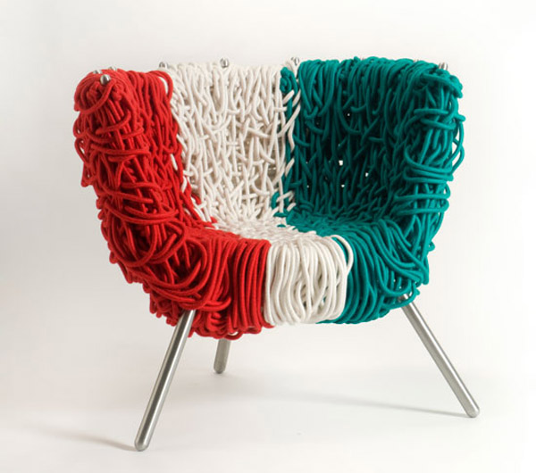String chair design 1 10 Striking String Chair Shapes From Inspired Designers