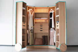 Stylish Walk-In Closet for Small Spaces