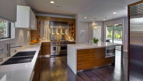 10 wood types for your interior design for Modern wood kitchen cabinets