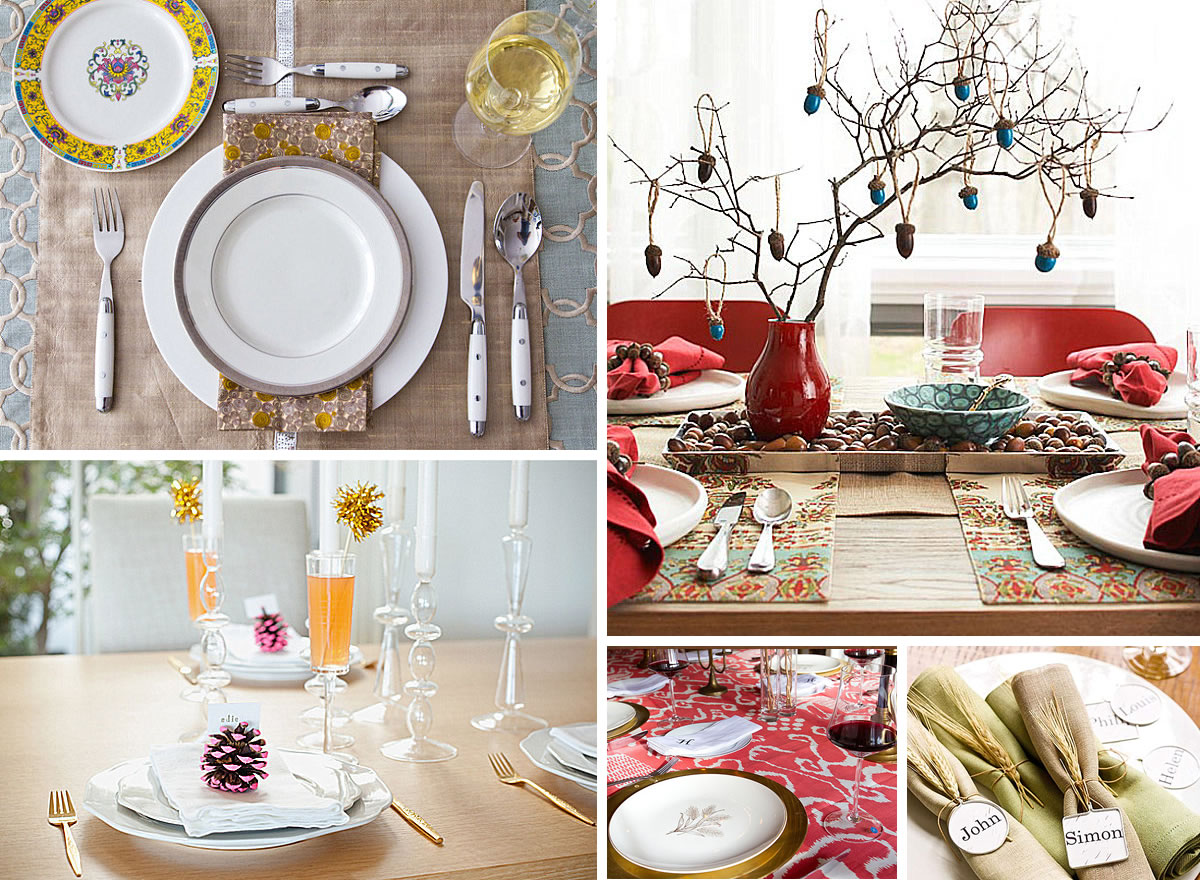 12 stylish thanksgiving table setting ideas. Black Bedroom Furniture Sets. Home Design Ideas