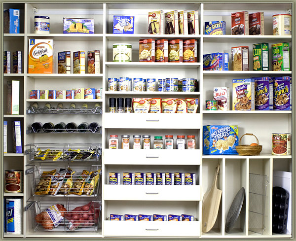 view in gallery tidy pantry layout - Pantry Design Ideas