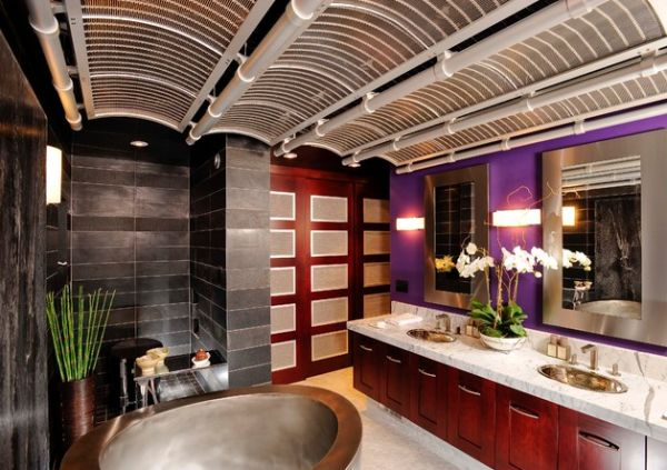 Vivacious and breathtaking Japanese bathroom design with dazzling details