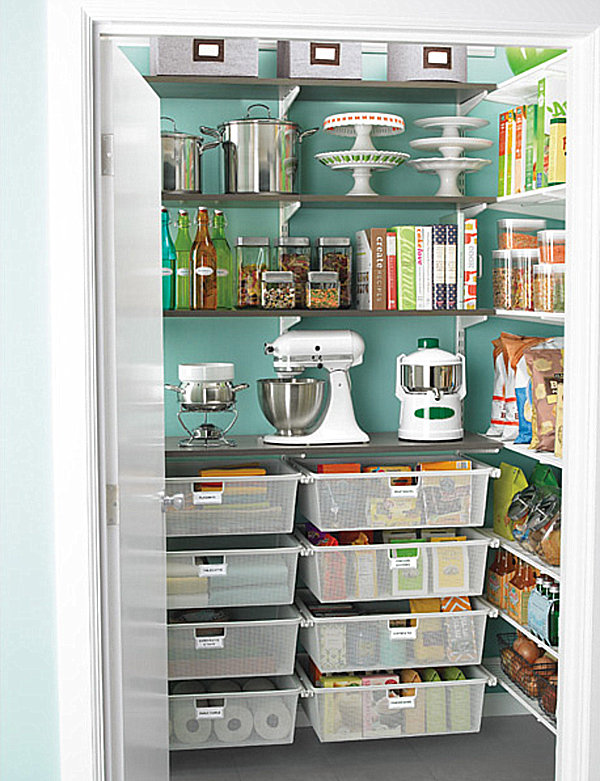 Pantry design ideas for staying organized in style for Kitchen closet ideas