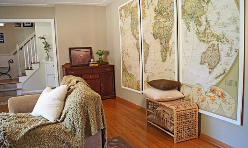 How to Use Old Maps in Home Decor