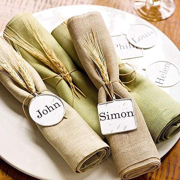 Wheat stalk place settig