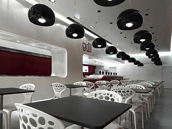 View In Gallery White Modern Restaurant Chairs