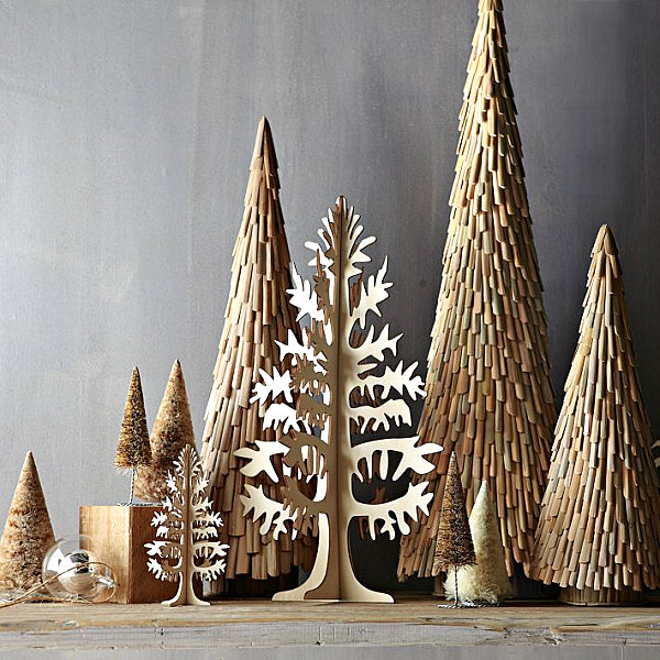 7 christmas decorating trends for the holiday season Christmas trees made out of wood