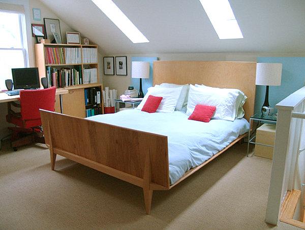 view in gallery wooden furnishings in a scandinavian bedroom - Scandinavian Design Bed