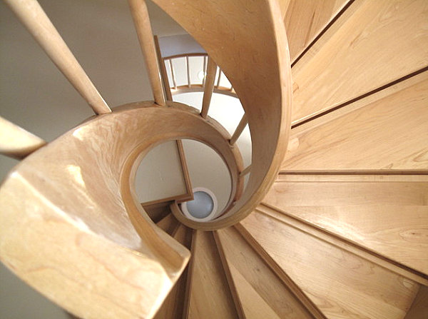 View in gallery Wooden spiral staircase  Make a Statement with Spiral Stairs. Exterior Wood Spiral Staircase. Home Design Ideas