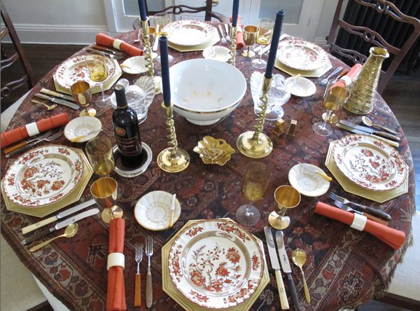 Worldly Eclectic & 12 Stylish Thanksgiving Table Setting Ideas