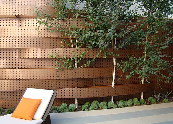 Modern Backyard Fence :  Fencing Winning Both Privacy and Peers Over with Beautiful, Outdoor