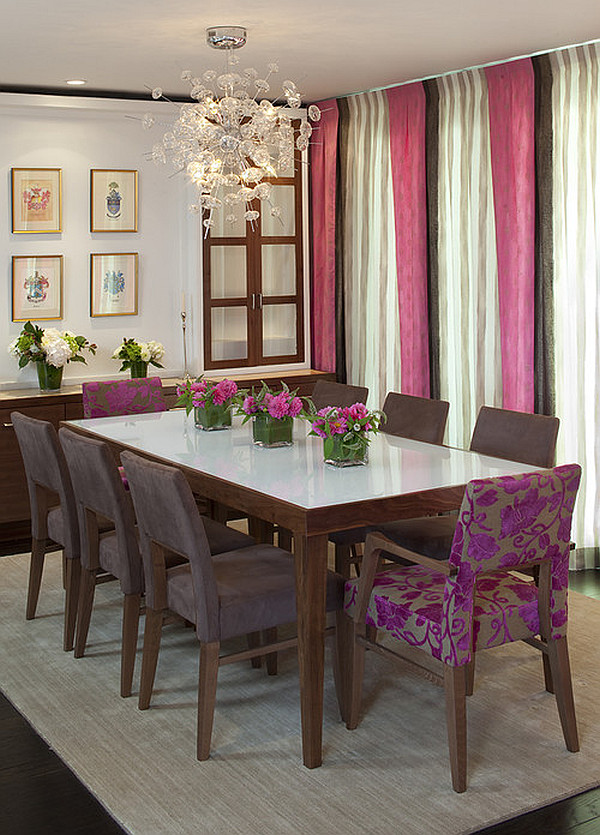 Perfect dining chairs for cozy luxurious or bold dining for Beautiful modern dining rooms