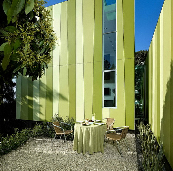 beautiful green exterior paint