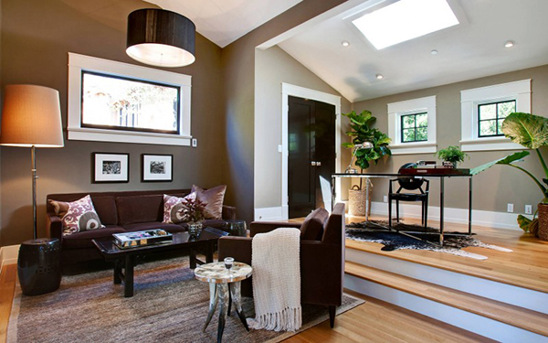 brown-and-white-living-room