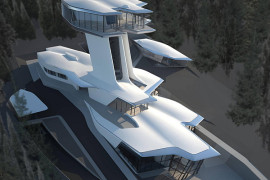 Russian Billionaire Builds Futuristic Spaceship Home for Naomi Campbell