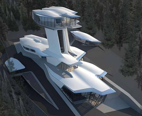 capital hill residence Russian Billionaire Builds Futuristic Spaceship Home for Naomi Campbell