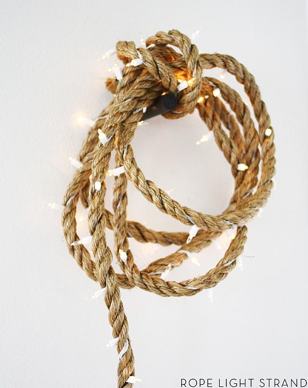christmas decoration - diy rope light strand