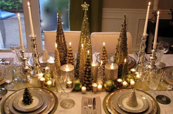christmas dining room sparkle
