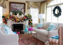 christmas mantle fireplace