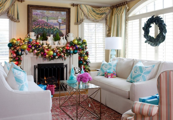christmas mantle fireplace How To Add Holiday Sparkle to your Home