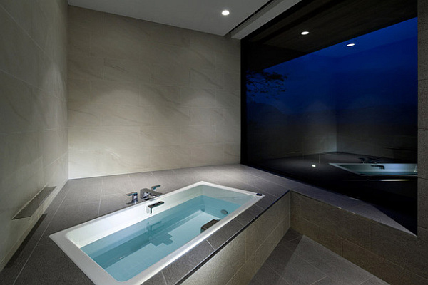 contemporary bath, japanese style