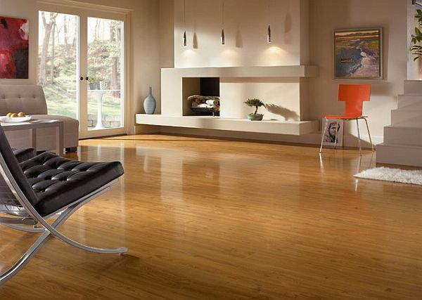 How to clean laminate wood floors the easy way for Cheap flooring ideas for living room