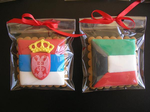 country flags decorated cookies