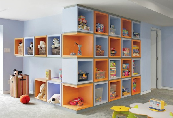 creative kids toy storage wall