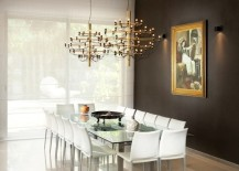 dining room accent wall dark