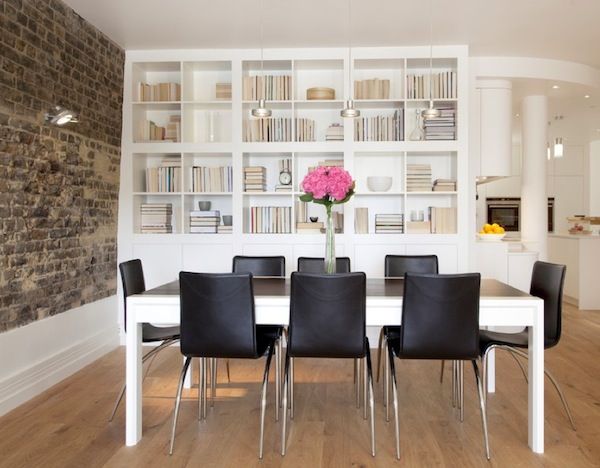 displaying books dining room How To Display Books As Decoration in Your Interiors