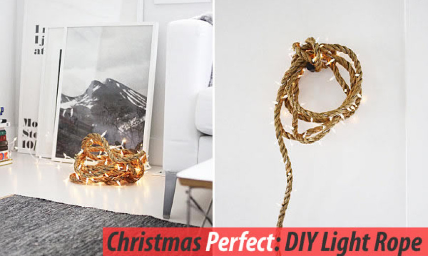 Christmas Decoration Ideas With this Dazzling DIY Rope Light