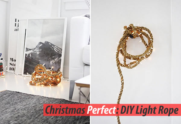 diy rope lights strap Christmas Decoration Ideas With this Dazzling DIY Rope Light