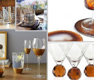 festive glassware for fall entertaining