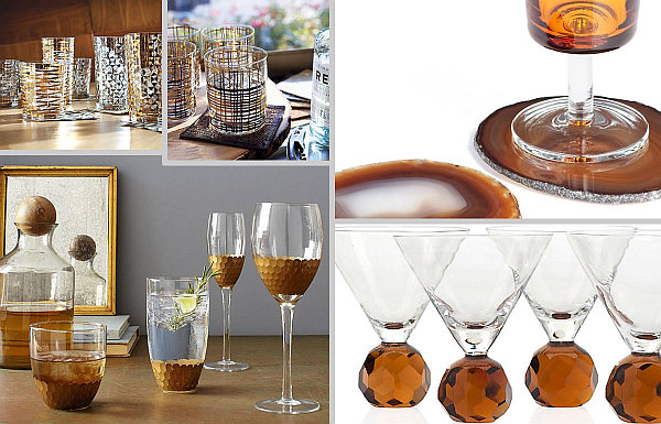 festive glassware for fall entertaining Festive Barware for Fall Entertaining