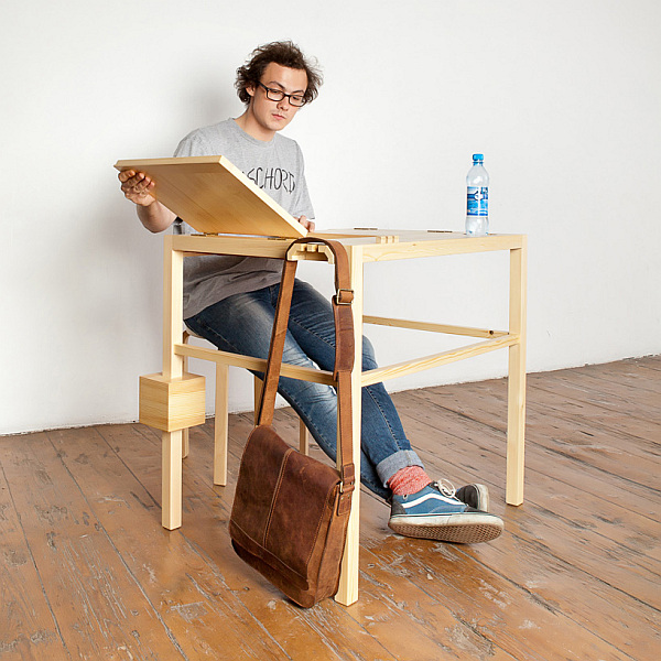 Unclutter In Style: Functional Table With Latex Support For A Cozy Siesta In