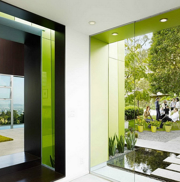 green theme modern villa in Los Angeles