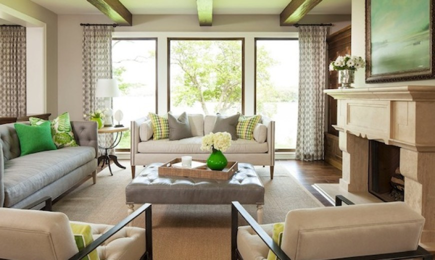 Greige Living Room creatively using gorgeous greige in every room of your home