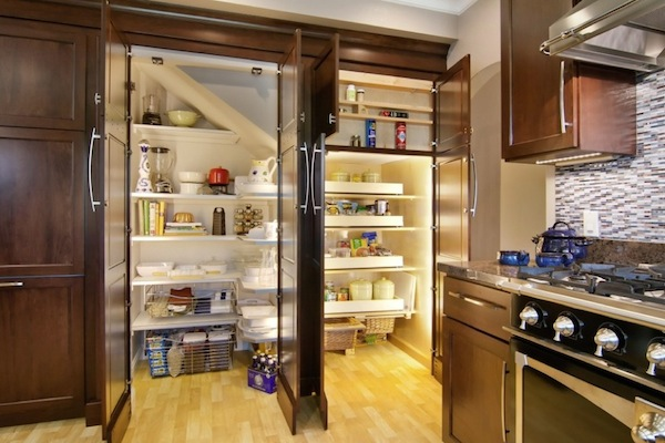 Finding hidden storage in your kitchen pantry for Hidden kitchen storage ideas