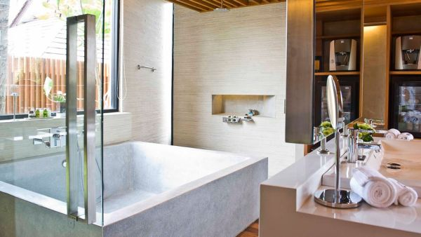 highly modern villa bathroom