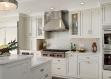 kitchen backsplash metallic