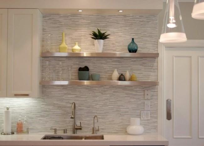 kitchen backsplash sleek modern