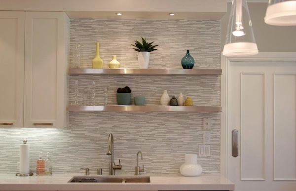 View In Gallery Kitchen Backsplash Sleek Modern