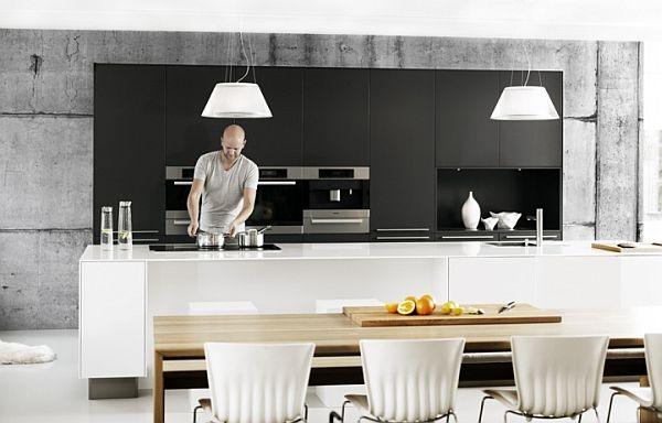 Concrete wallpapers by tom haga for an industrial look for Kitchen colors with white cabinets with papier peints design