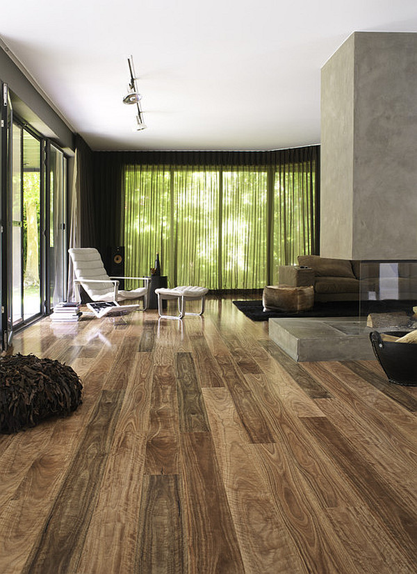 ... Dark Laminate Flooring For A Large Living Room Decor