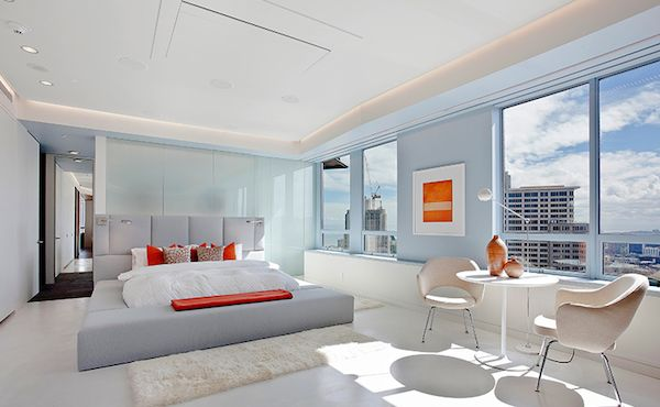 lavish white bedroom in stylish penthouse Stylish San Francisco Ritz Carlton Penthouse Could Be Yours for $8 Million