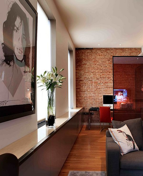 Adding an exposed brick wall to your home for Brick wallpaper interior design