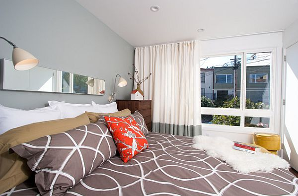 master suite bedroom with modern duvet cover Six Secrets to Saving Money While Sprucing up Your Living Space