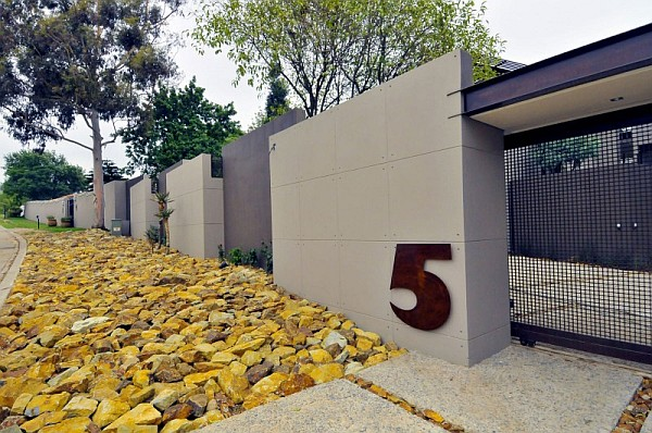modern house entrance wall South African Mid century Villa Renovation by Nico Van Der Meulen