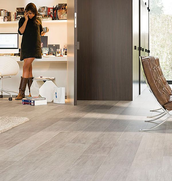 How to clean laminate wood floors the easy way for Modern living room flooring ideas